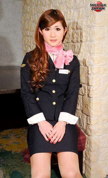 Nene Pretty Air Stewardess SHEMALEJAPAN Nene Aizawa